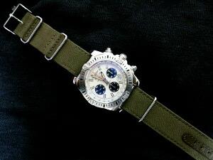 時計ベルトをモレラートのジャンプに交換したブライトリングクロノマット44エアボーン