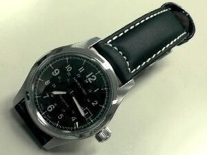 時計ベルトをモレラートのセザンヌに交換したハミルトンカーキ・フィールド・オート