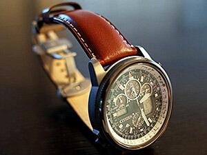 時計ベルトをモレラートのジョルジオーネに交換したCITIZEN PROMASTER