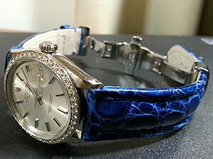 時計ベルトをモレラートのTIPO BREITLING 3に交換したROLEX OYSTER