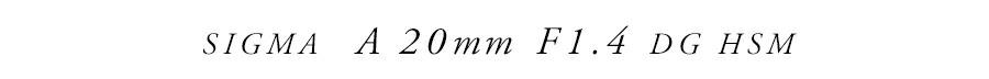 SIGMA (シグマ) A 20mm F1.4 DG HSM