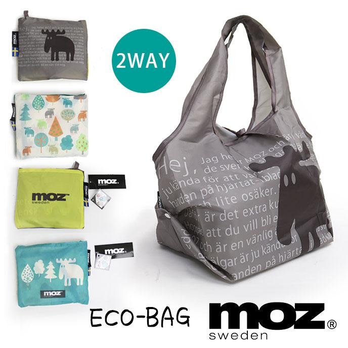 MOZ モズ 2WAY エコバッグ ショッピングバッグ