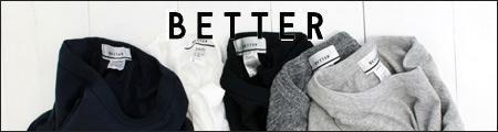 BETTER【ベター】クルーネック 長袖tシャツ (BTR1603L)