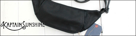 KAPTAIN SUNSHINE 【キャプテンサンシャイン】 トラベラー ファニーパック レザー Traveller Funny Bag MADE BY PORTER (KS9FGD08)