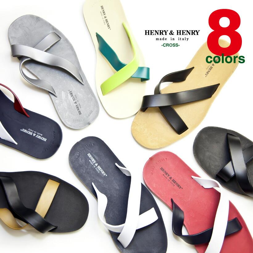 HENRY&HENRY/ヘンリー&ヘンリー/CROSS/クロス/サンダル/ビーチサンダル/made in italy/メンズ