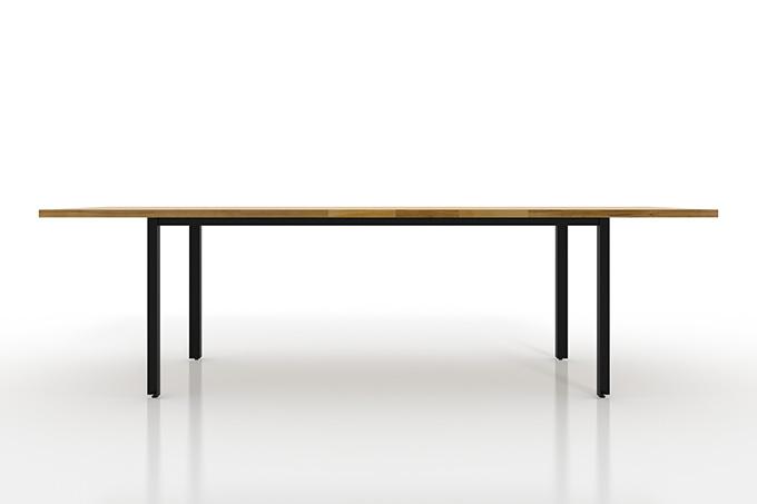 天板を美しく見せるためのミニマルなデザイン/ダイニングテーブル W2400×D900 ブラウン
