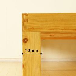 伝統的な技法「蟻組み」と6脚の太脚でさらに強度アップ。