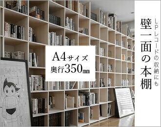 壁一面の本棚 奥行350mm