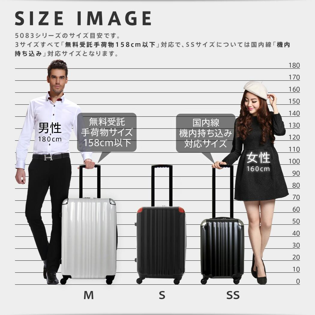 スーツケース 5083 サイズイメージ