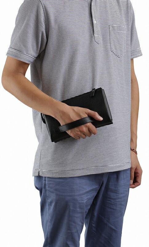 平野鞄 ハミルトン 牛革中仕切り身にポーチ セカンドバッグ