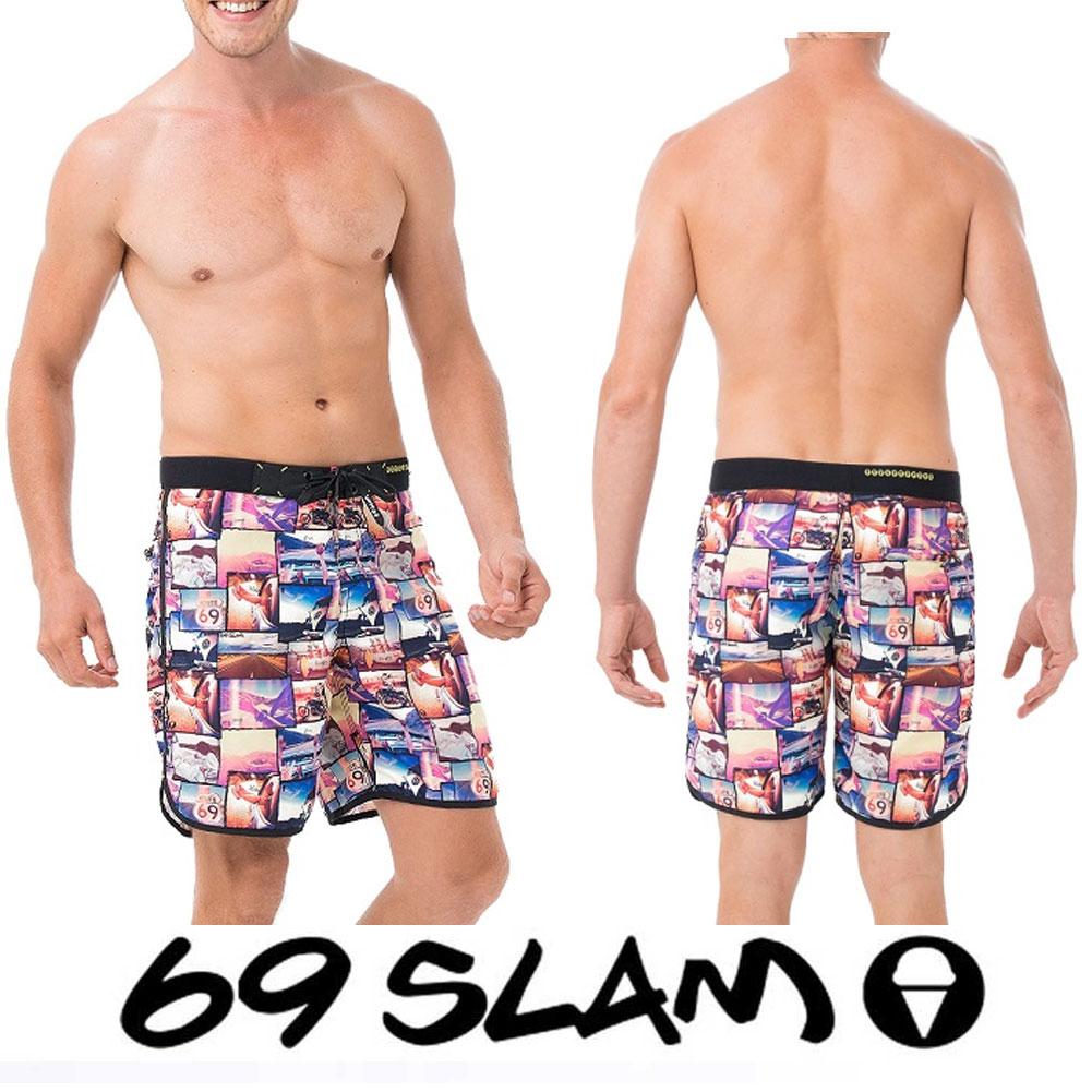 67a48f6173 Shirahama Mariner: 69slam lock slum MENS BOARDSHORTS MIDIUM men ...
