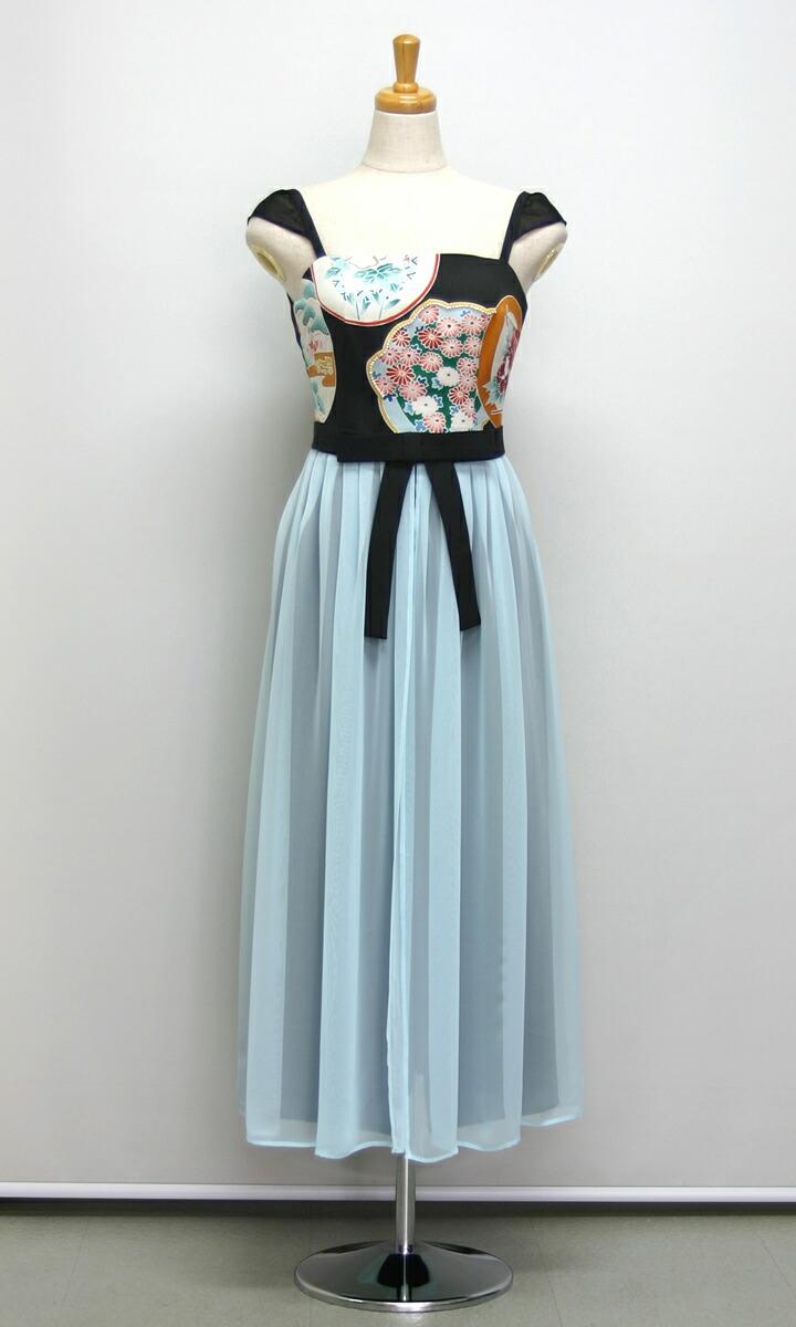 和ドレス、着物ドレス、ワンピース