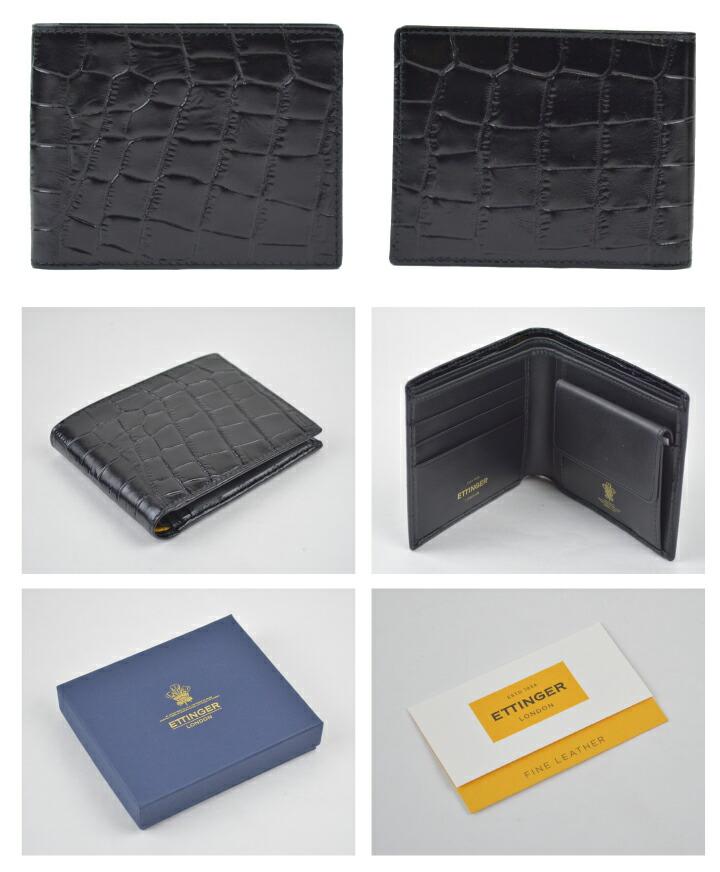 7fc4cb3c4d59 安心?丁寧をモットーにお客様に喜んでいただけるように日々努力いたしております。 ブランド ETTINGER 商品名 Billfold Wallet  With Coin Purse CC141J サイズ/約cm ...