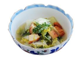 のこり野菜とつけあげの炒め物