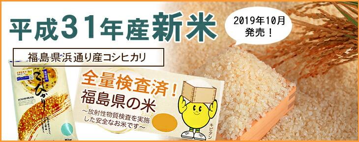 平成31年産(新米) 福島県浜通り産 コシヒカリ