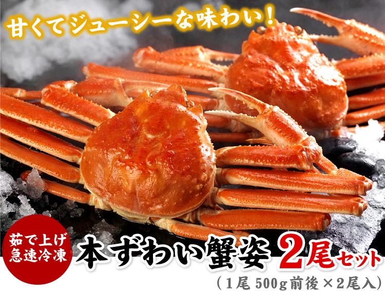 本ずわい蟹姿2尾