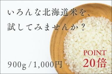 選べるお試し品北海道産米900g