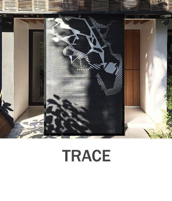 おしゃれな洗えるラグマット TRACE