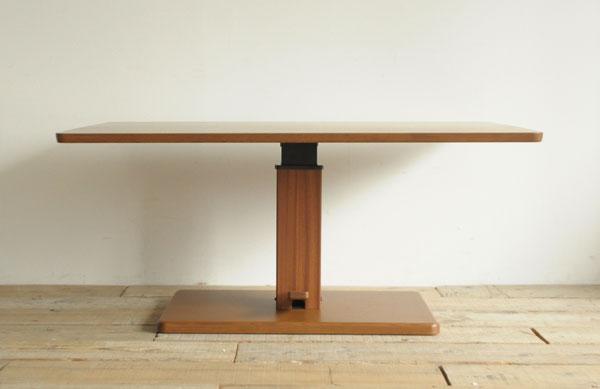 ダイニングテーブル 昇降式 1本脚