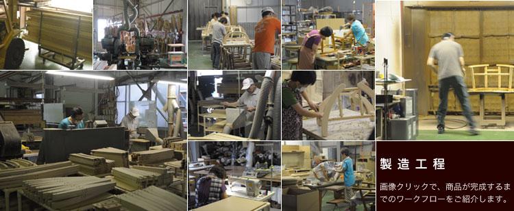 平田椅子製造工程