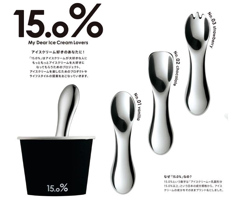 アイスクリームスプーン 15.0%