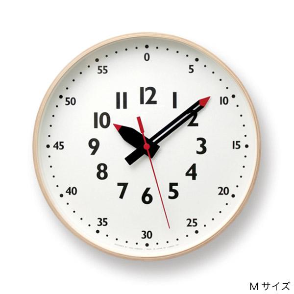 壁掛け時計 子供が見やすい時計 知育にもおすすめのふんぷんクロック Mサイズ