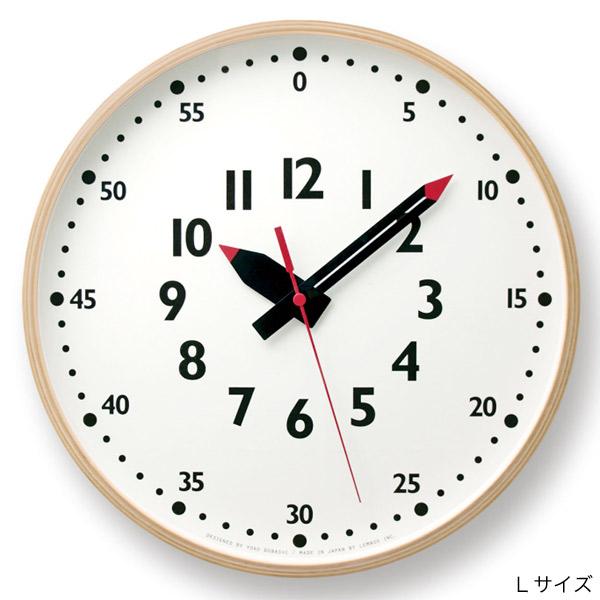 壁掛け時計 子供が見やすい時計 知育にもおすすめのふんぷんクロック Lサイズ