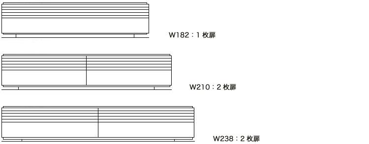コレンテ テレビボード サイズ