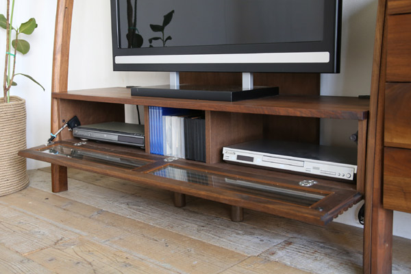 テレビ台 テレビボード 135 ウォールナット