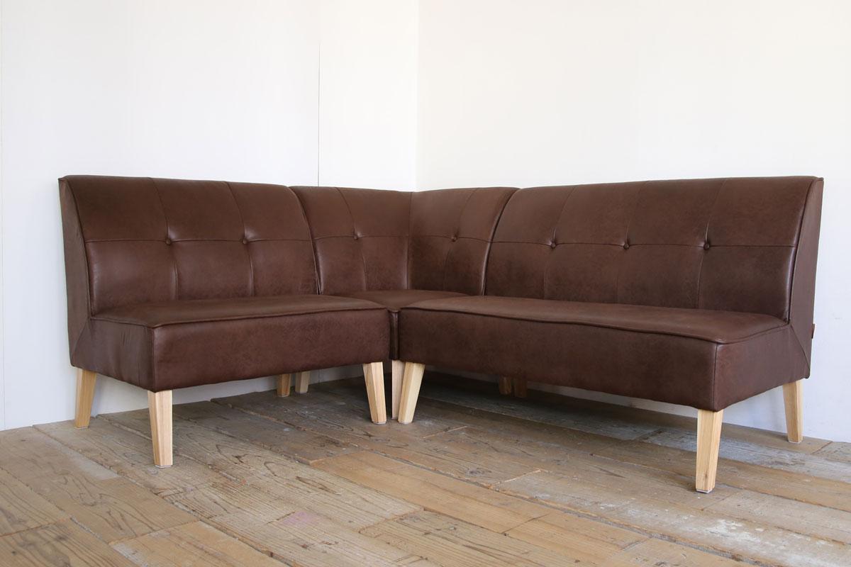 レザーテックスのダイニングソファ、ボルロ