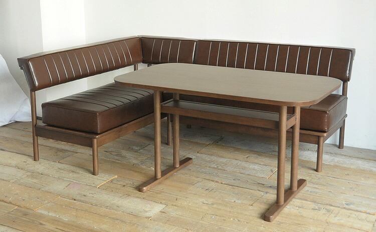 DUO デュオ ナチュラルな木フレームと、クッションのコンビネーションが美しいダイニングソファセット