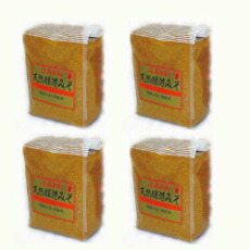 ふるどの天然醸造みそ1kg袋4個入れ