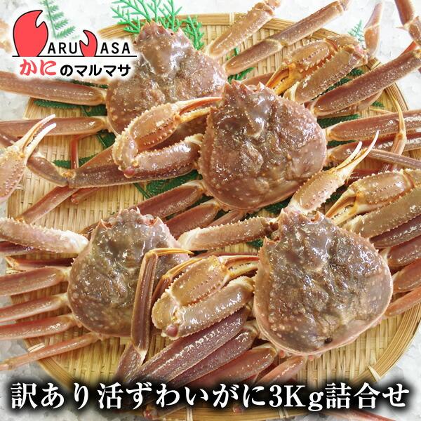 かにのマルマサ 北海道直送 訳アリずわい蟹3kg詰合せ<br />