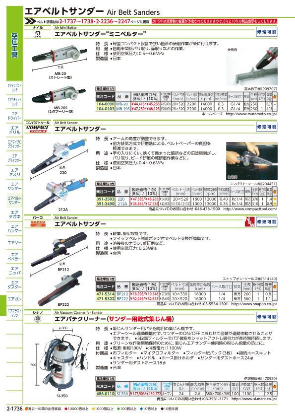 Nile mini-Berta MB20S sale unit: Nothing (enter a number: -)JAN  [4953881611512] (Nile air belt sander) Muromoto Tekko