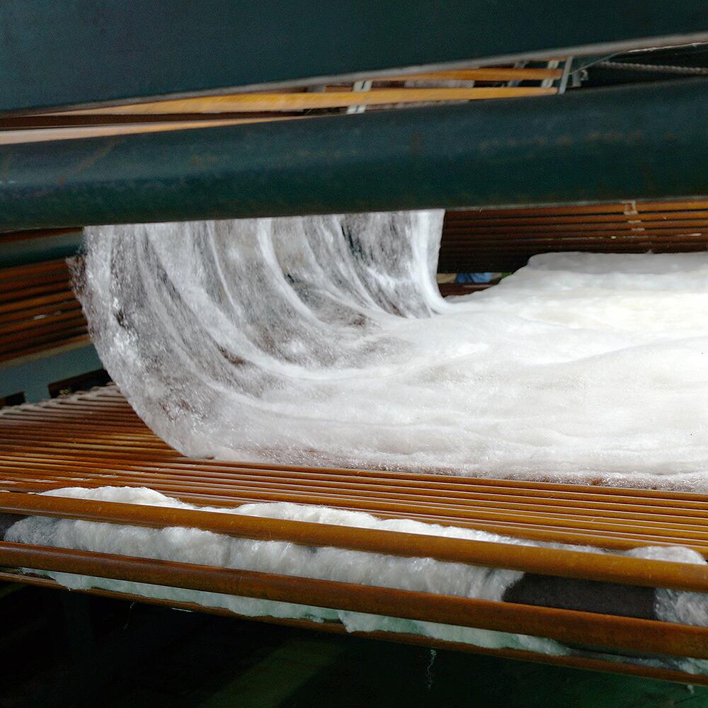 MARUSANORIGINALベッドパッドウール100%シングル(97×195cm)生成(きなり)格子キルト加工四隅ずれ防止ゴム付き詰め物ウール100%(1.0kg)(防縮加工)側地(表地)綿100%スムースニット生地(裏地)綿100%ブロード生地(防縮加工)