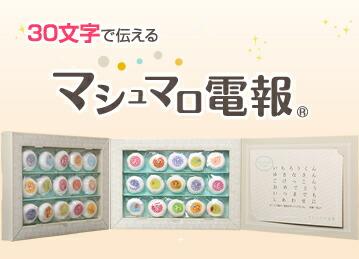 30文字のマシュマロ電報(1箱30個入)