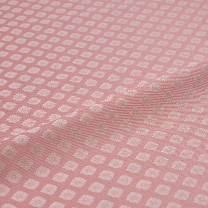 菊菱(ピンク) 西陣織 錦裂 正絹化繊混紡