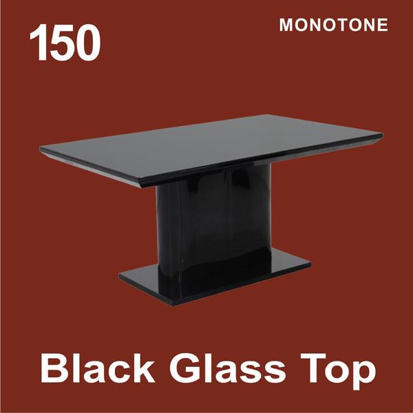 150ダイニングテーブル ブラック エレガント モダン 北欧 送料無料
