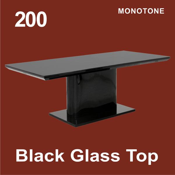 200ダイニングテーブル ブラック エレガント モダン 北欧 送料無料
