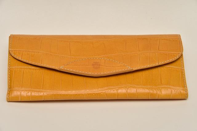 32ee0224dcbb 【期間限定 カードケース プレゼント付き】Felisi フェリージ 954/SA フラップタイプ ウォレット エンボスレザー財布 (クロコ型押し)