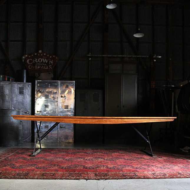 US PROPARTY(公共もしくは軍用)資産の木製ロングテーブル