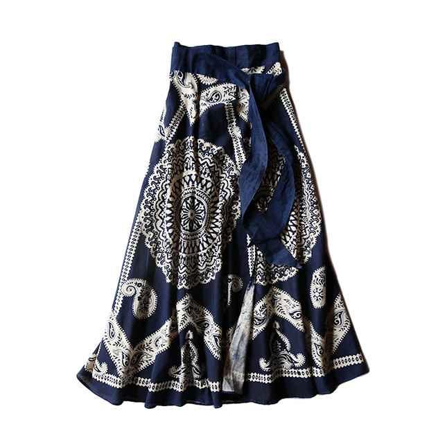 70年代 デッドストック(未使用品)インド綿の巻きスカート