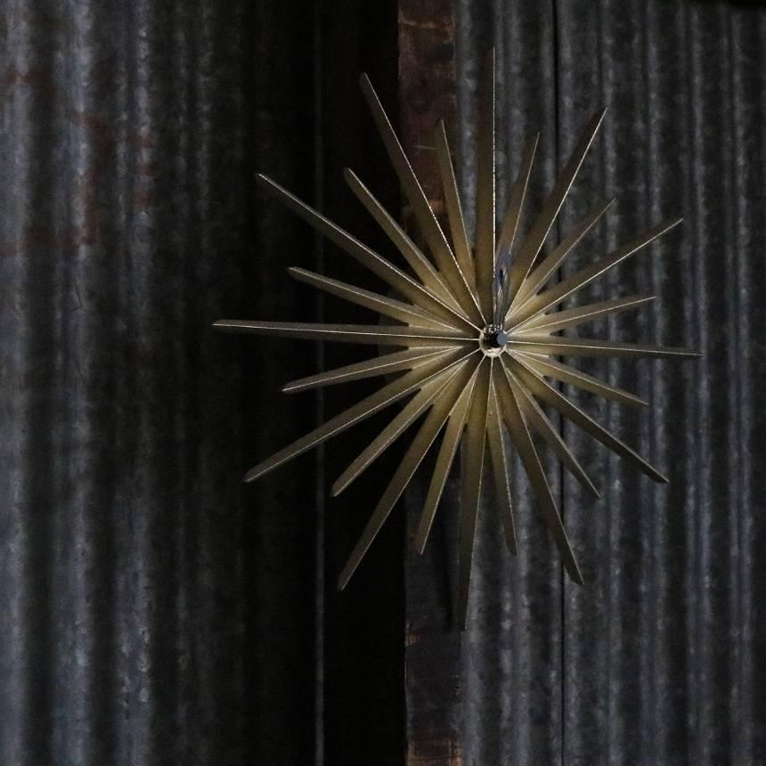 FUTAGAMI 真鍮鋳肌の掛け時計 ポールスター