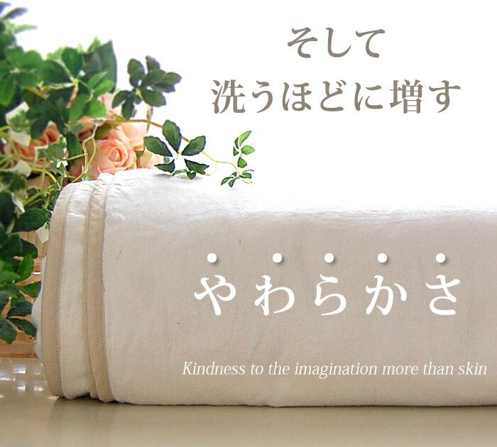 ふわふわ 洗濯で柔らかに変化する松並木のガーゼ