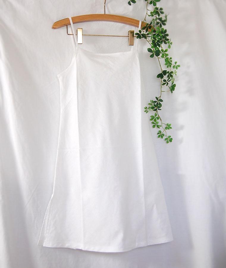 松並木の無添加コットン ガーゼ 綿100%  キャミソール Additive-free cotton gauze camisole