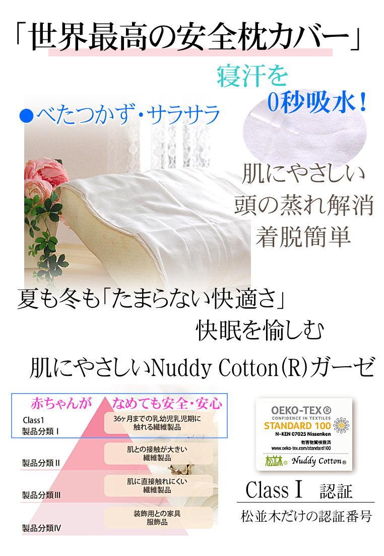 なくてはならにい 快眠 枕カバー ブルー枕 用 枕カバー