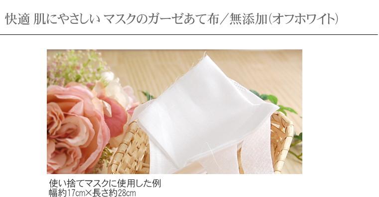 肌にやさしい ガーゼマスク 当て布 松並木 日本製