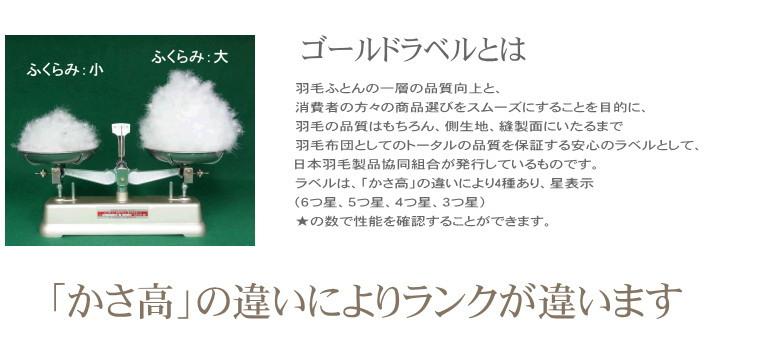かさ高 プレミアム羽毛布団  ホワイトマザーグース シングル