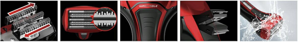 マクセルイズミ 電動シェーバー S-DRIVE 4枚刃 替刃付属 IZF-V559-A-EA 往復式シェーバー IZF-V559