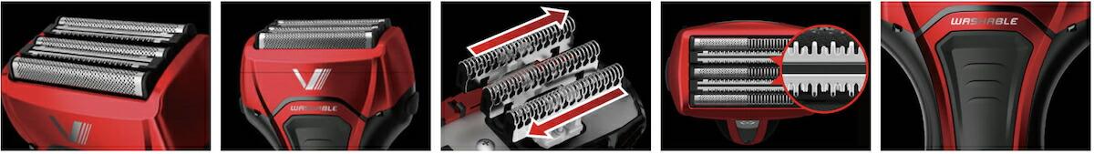 マクセルイズミ 電動シェーバー S-DRIVE S-DRIVE 5枚刃 替刃付属 IZF-V579-R-EA 往復式シェーバー IZF-V579